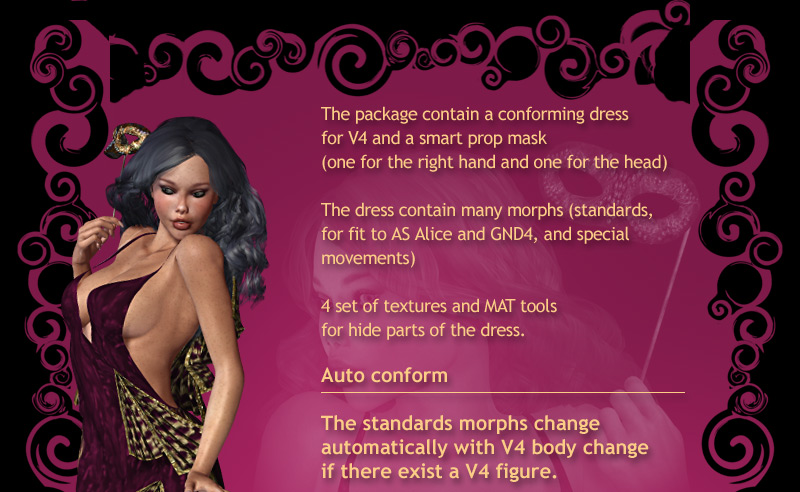 Product requirements poser 5 or above daz victoria 4 for Haute couture requirements
